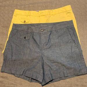 Banana republic bundle of 2 roll up shorts EUC
